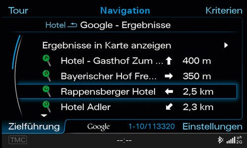 Audi A8 With Google Earth: Tech Photos