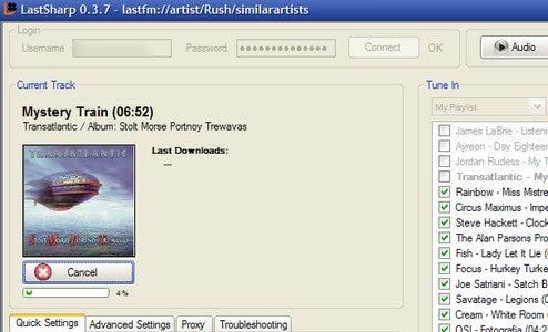 LastSharp Downloads Music from Last.fm