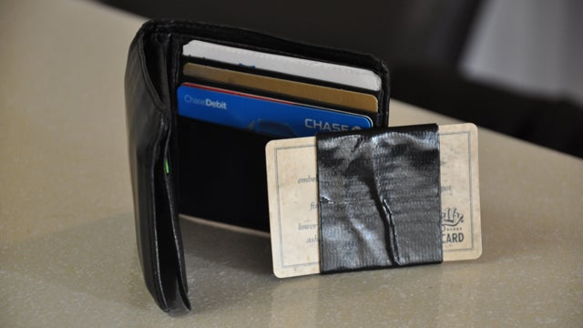Use an Old Gift Card to Keep a Bit of Duct Tape With You at All Times
