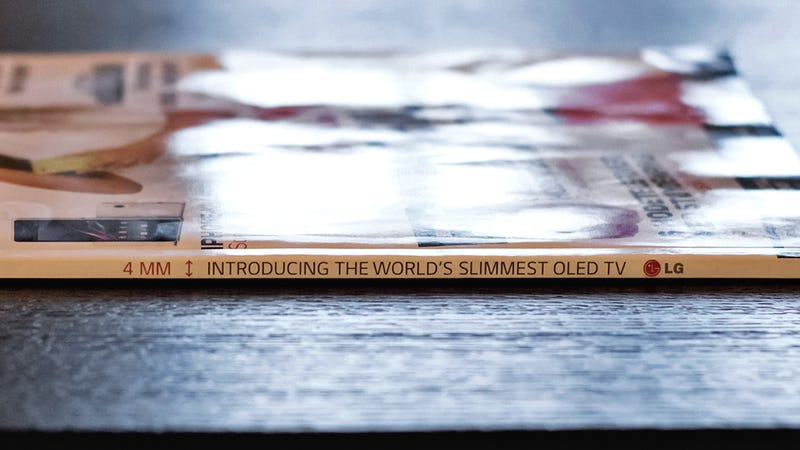 LG Created a Magazine Ad as Thin as Its OLED TV