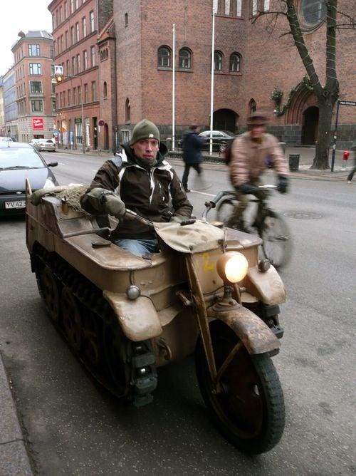 NSU Kettenkrad Down On The Copenhagen Street