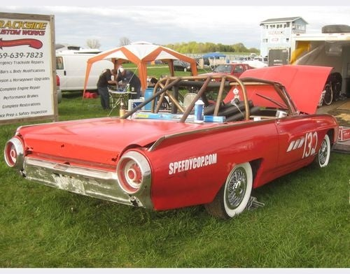 Police Brutality 1963 Ford Thunderbird at Detroit Irony 24 Hours of LeMons