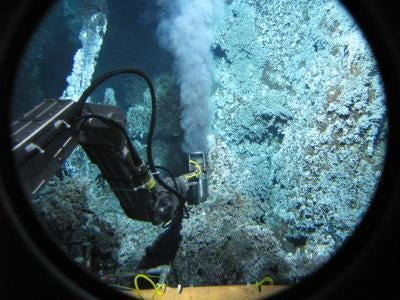Methane-exhaling microbes found in undersea volcanoes reset the limits of life