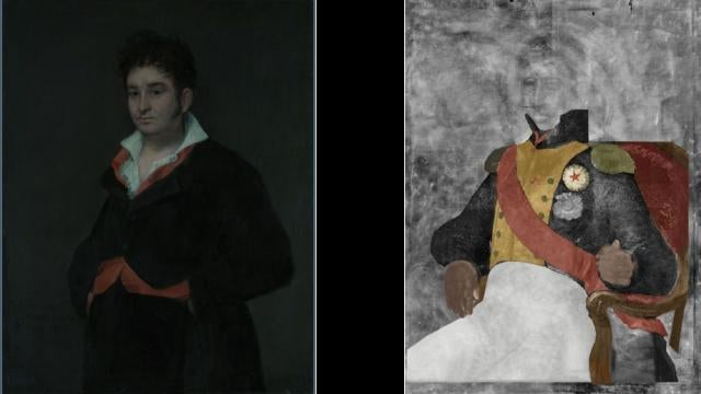 X-rays reveal hidden painting behind 19th century masterpiece