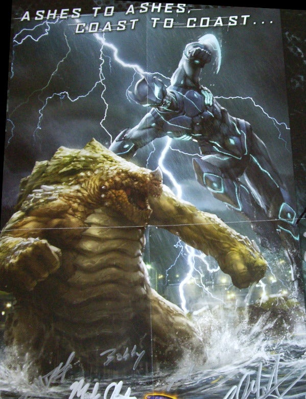 Caption These Giant Monsters, Win A Sweet Autographed Monsterpocalypse Poster