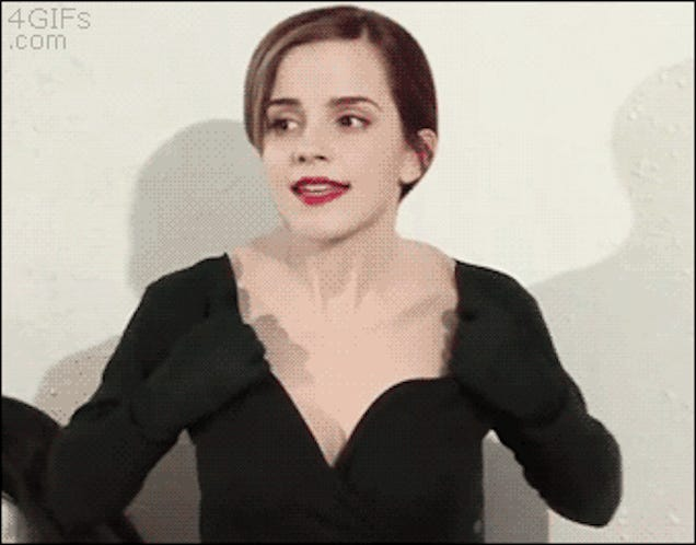 Here's the Deal With That GIF of Emma Watson's Face Melting