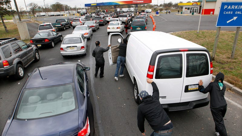 etting gas in New Jersey is a challenge after Sandy