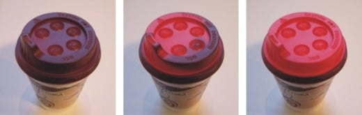 "Because ""Contents Are Hot"" Warning Labels Aren't Enough: Temperature Sensitive Coffee Lid"