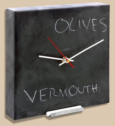 Blackboard Wall Clock Does Two Things at Once