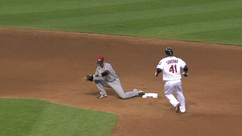 Carlos Santana Was Out By Six Feet, Except That Umpire Jim Wolf Is Legally Blind