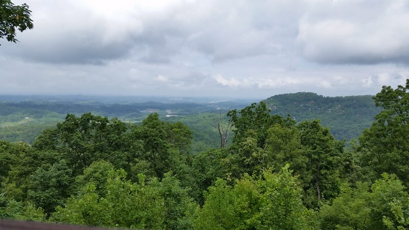 the awesome view from our cabin in the smokies.
