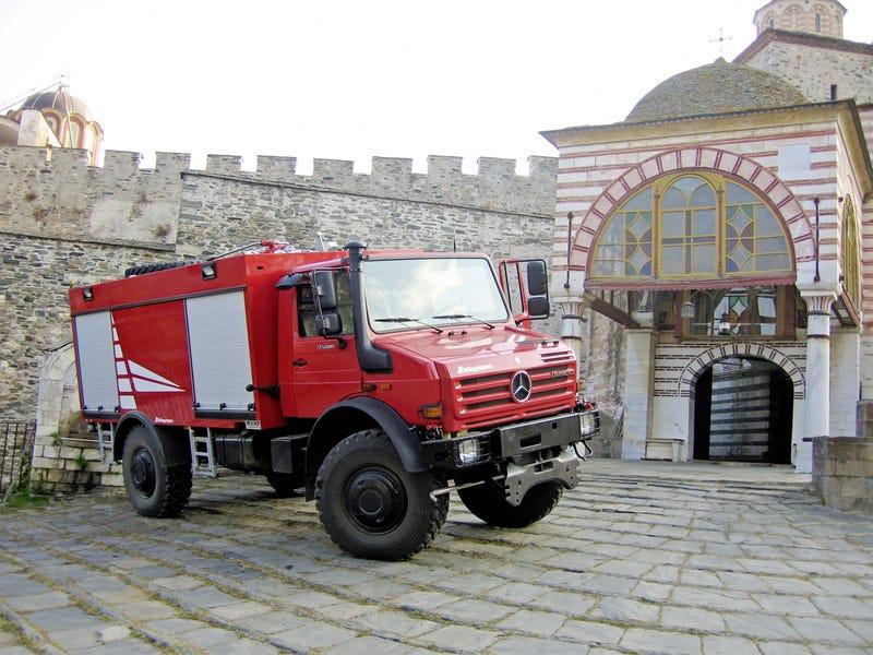 Firefighting Monks Always Choose A Unimog