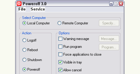 Automate Windows Shutdown with Poweroff
