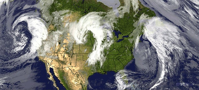 Extraordinary picture: Three dragon storms sweeping the US