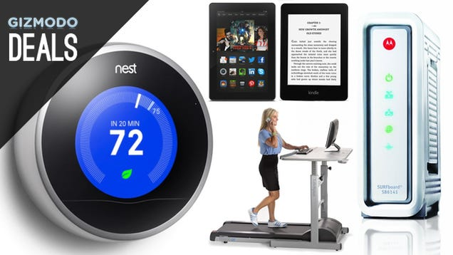 Deals: Nest Thermostat Up To $67 Off, Treadmill Desk, LED Flood Lights