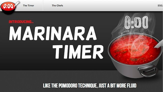 Marinara Timer is a Flexible, Web-Based Pomodoro Timer