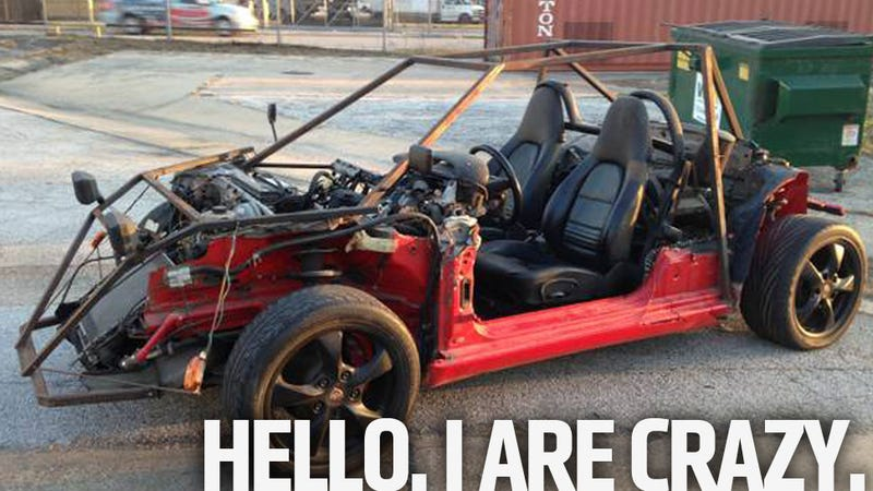 Just In Case You Ever Forget You're Batshit Insane, You Better Get This Boxster Go Kart