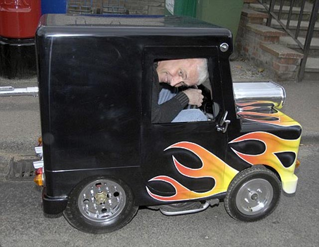 British Man Builds World's Smallest Car