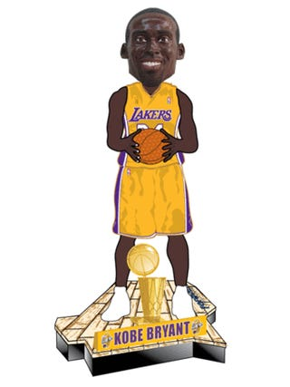 A Life-Size Kobe Bryant, And His Head Bobbles