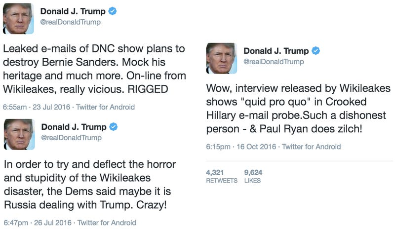Trump Can't Spell 'Wikileaks' But His Campaign Can