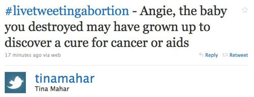 Internet Reacts (Predictably) To Woman Live-Tweeting Her Abortion