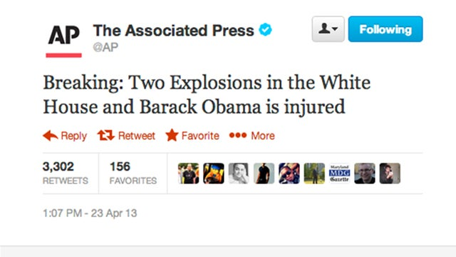 Why That AP Tweet About the White House Explosions Is Definitely Fake