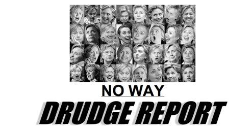 Drudge Unloads Collection Of Horrifying Clinton Photos