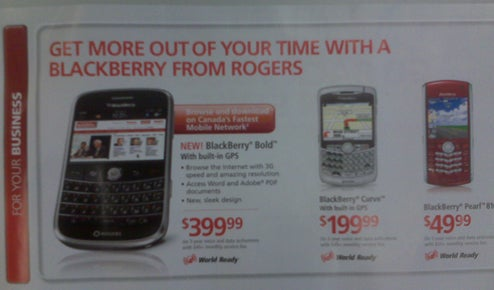 Rogers BlackBerry Bold Price Does Not Bode Well