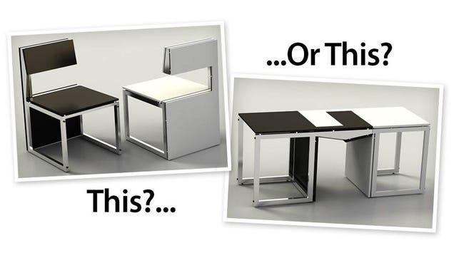Transforming Furniture Makes You Choose Between Sitting