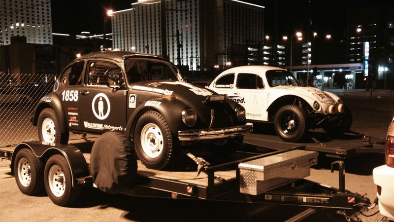 What It's Like To Race An Old VW Beetle And Get Run Over By A Truck