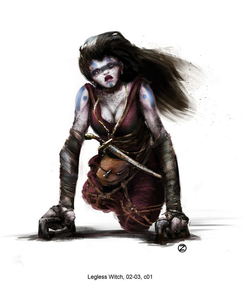 The grotesque witch concept art from Hansel & Gretel will probably turn you on