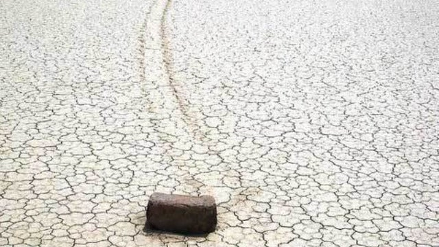 In Death Valley, the rocks move when no one's looking