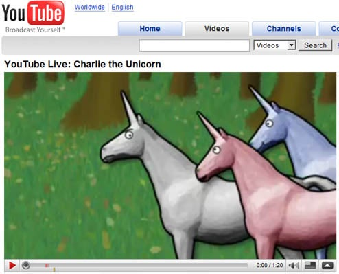 YouTube Now Playing Widescreen Videos