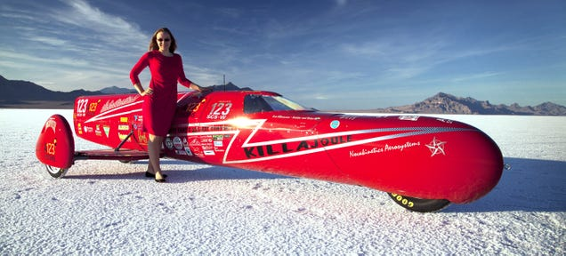 Eva Håkansson achieved a two-way average of 240.726 mph (387.328 km/h) at the Bonneville Motorcycle Speed Trials