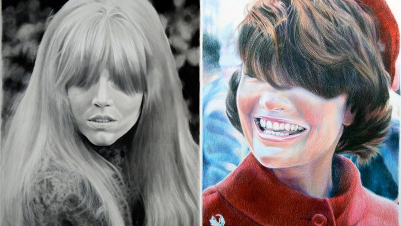 I Can't Stop Staring at These Portraits of Women With Long-Ass Bangs