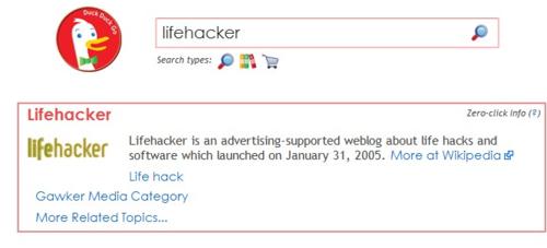 DuckDuckGo is a Search Engine for Keyboard Ninjas