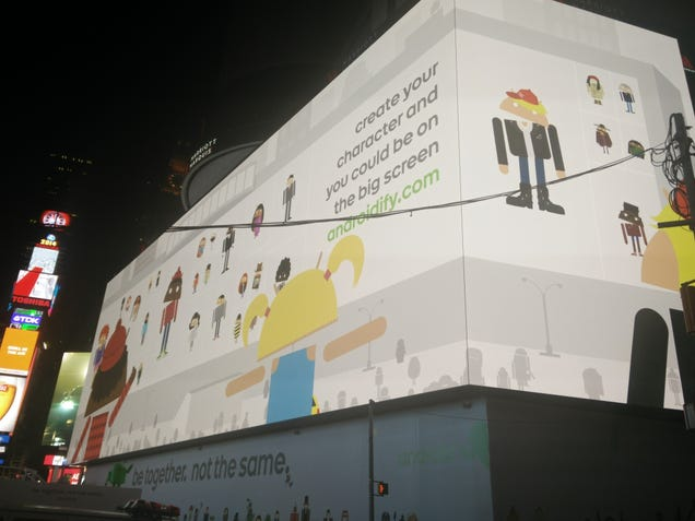 Google's Android Billboard in Times Square Is Freaking Gigantic