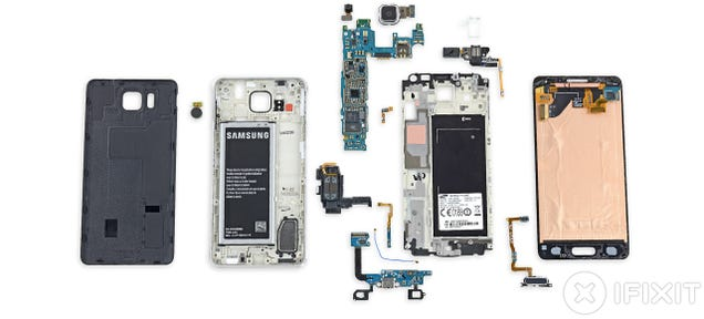 Samsung Galaxy Alpha Teardown: Lots of Glue Makes For Tricky Repairs