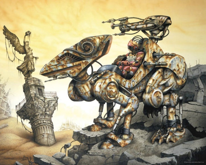 Behold, the Aztec mecha and Mayan cyborgs of our Mesoamerican future