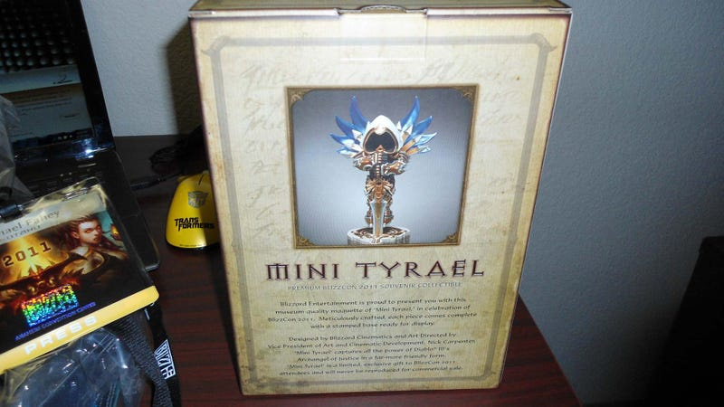 Mini Tyrael Lords Over the BlizzCon 2011 Goodie Bag