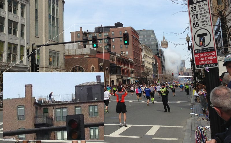 New Photos Reveal True Purpose of Mysterious Boston Marathon Roof Man