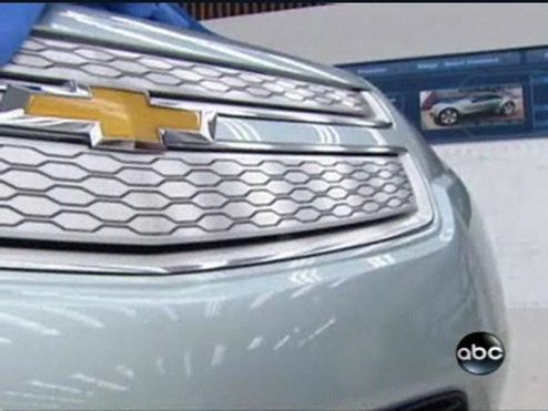 ABC News Hikes Skirt Up Even Higher On Chevy Volt Front End, Interior