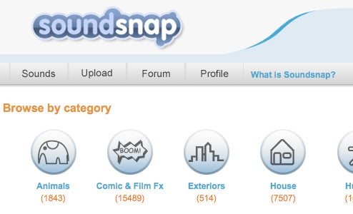 Soundsnap Offers Free Downloadable Sound Effects