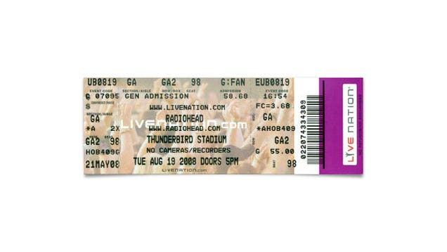 Concert Ticket Barcode Post Your Concert Tickets
