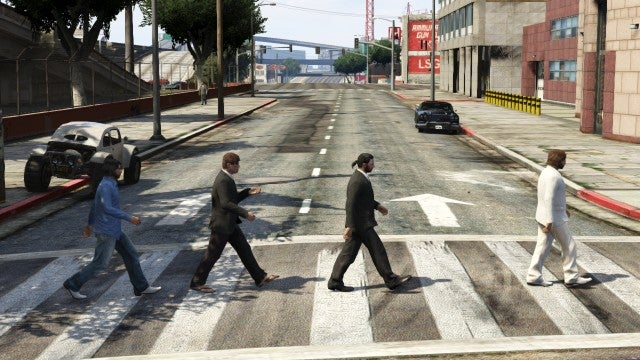 Iconic Album Covers, Recreated in... GTA V