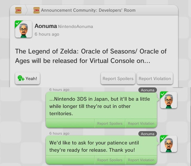 Zelda: Oracle of Seasons And Ages Are Coming To 3DS Virtual Console Outside Of Japan... Eventually