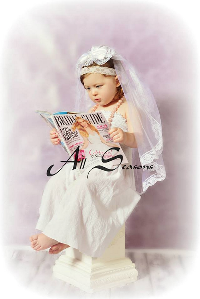 Great Idea for Your Small Baby: Buy Her a 'Future Bride' Photoshoot