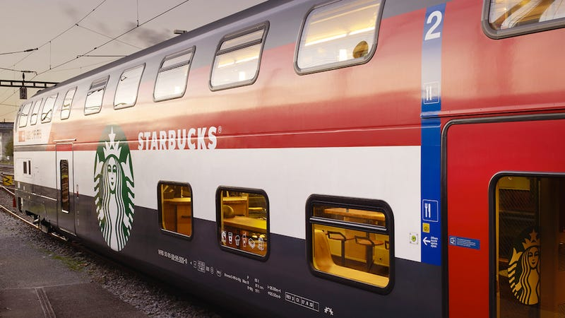What Finally Makes Train Travel Bearable Might Be… Starbucks?