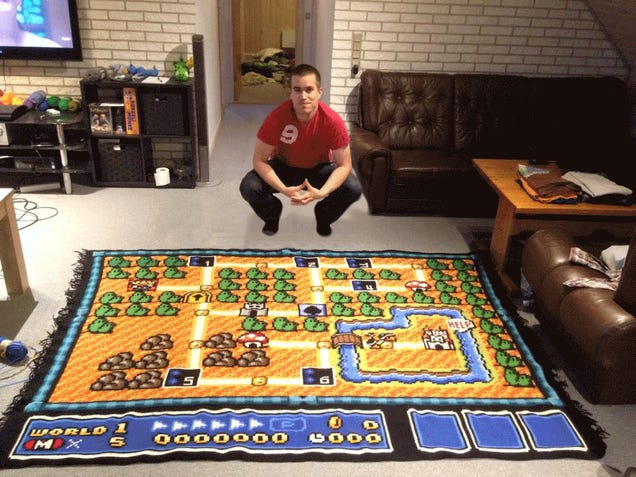 Man Spends Six Years Crocheting One Super Mario Bros. 3 Map