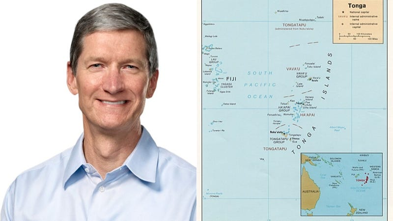 Tim Cook Makes More Than the GDP of the Kingdom of Tonga